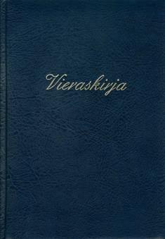 Vieraskirja (B5, teksti, tummansininen, pehmeät kannet, 288 sivua)