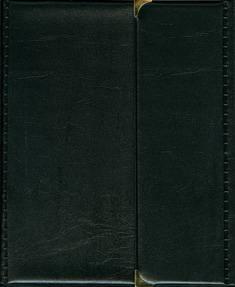 Kokouskansio A5 (metallikulmat, musta)