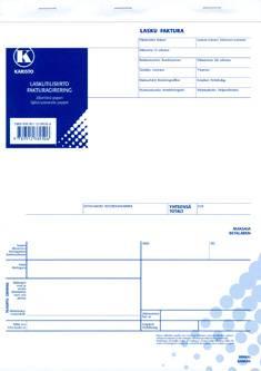 Laskutilisiirto A4 (10 kpl/pkt, 40 lehteä, jäljentävä paperi)