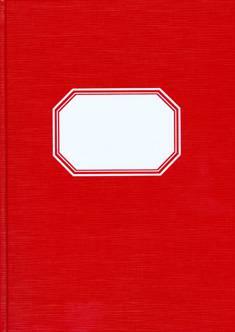 Konttorikirja (A4, ruutuviivainen 7x7, 288 sivua, punakantinen, valk. etiketti)