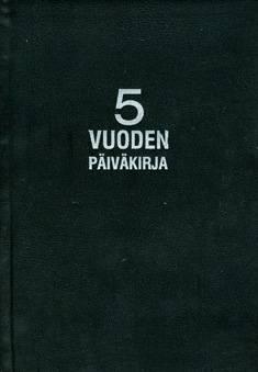 Viiden vuoden päiväkirja (148x210 mm, 376 sivua,  musta)