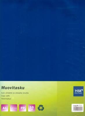 Muovitasku sininen A4 0,12 mm pp 10 kp/pussi