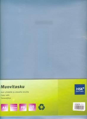 Muovitasku kirkas A4 0,12 mm pp 10 kp/pussi