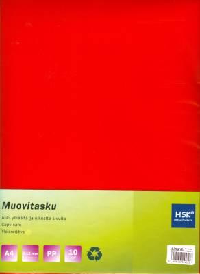 Muovitasku punainen A4 0,12 mm pp 10 kp/pussi
