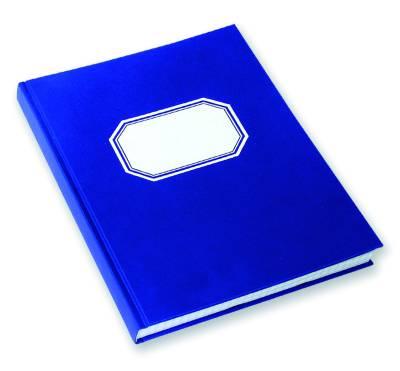 Konttorikirja (B5, ruutuviivainen 7x7, 288 sivua, sinikantinen)