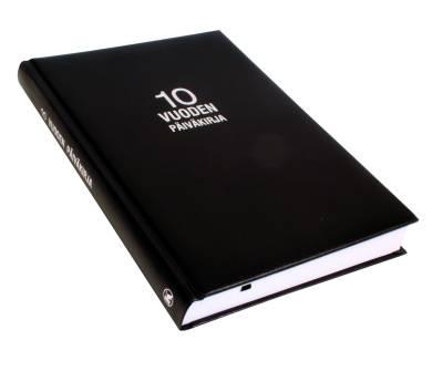 10 vuoden päiväkirja (B5, 376 s. musta, kovakantinen, nimipäivät)