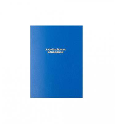Ajopäiväkirja 184 (10 kpl/pkt, A6, vapaa autoetu, sid. sinik., 32 sivua)