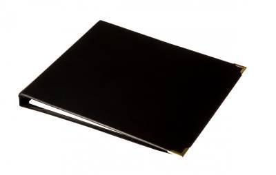 Valokuvakansio (350x310 mm, 10 lehteä, metallikulmat, musta)
