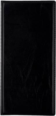 Käyntikorttikansio (122x253 mm, kiinteät taskut 96 kortille, musta)