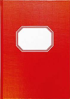 Tilikirja (2 rahasaraketta, A4, 64 sivua, punainen kiiltopahvikansi)