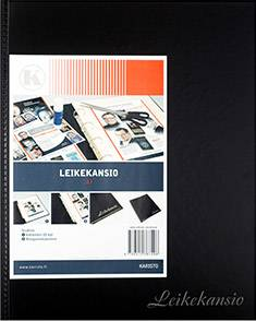 Leikekansio A3 (20 lehteä, musta)