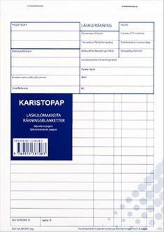 Laskulomake A5 (10 kpl/pkt, viivoilla, jäljentävä paperi, 50 lehteä)