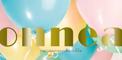 Slogan panoraamakortti Onnea ilmapallot