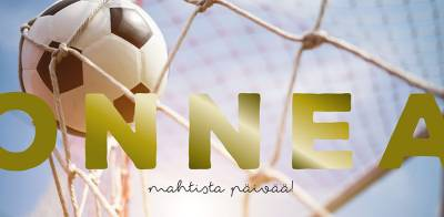 Slogan panoraamakortti Onnea jalkapallo