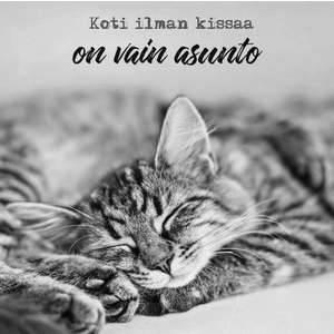 """Anu Kovalainen magneetti """"Koti ilman kissaa on vain asunto"""""""