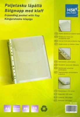 Paljetasku A4 pp 10 kpl/pussi 0,18 mm läpällä yleisreijitys
